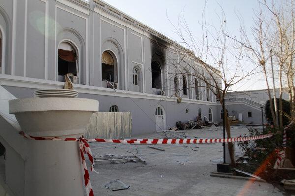 Miesto bombového útoku v sídle guvernéra afganskej provincie Kandahár.
