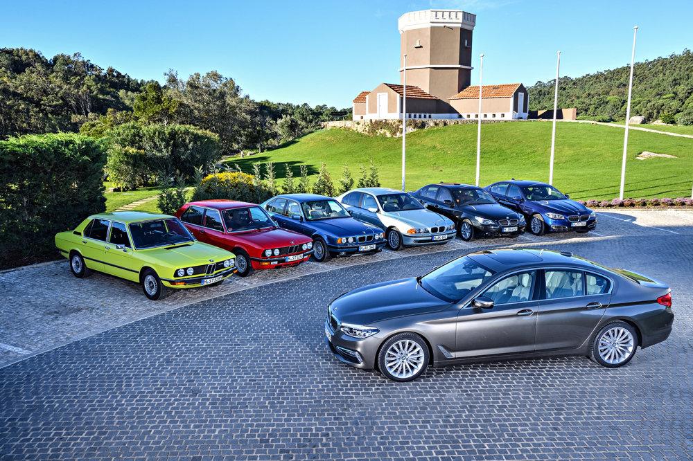 Sedem generácií BMW radu 5.