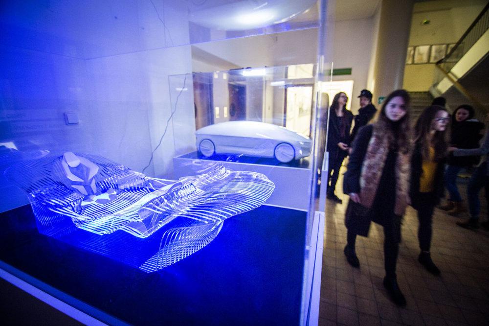 Prezentácia študentských prác v rámci zimnej Noci architektúry 2017.