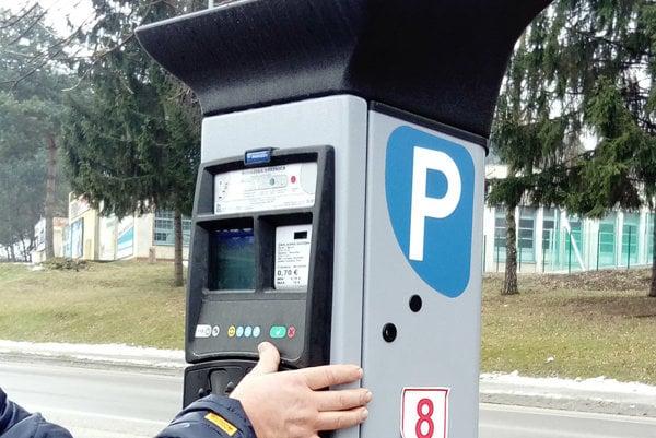 Parkovací automat pri Viste.