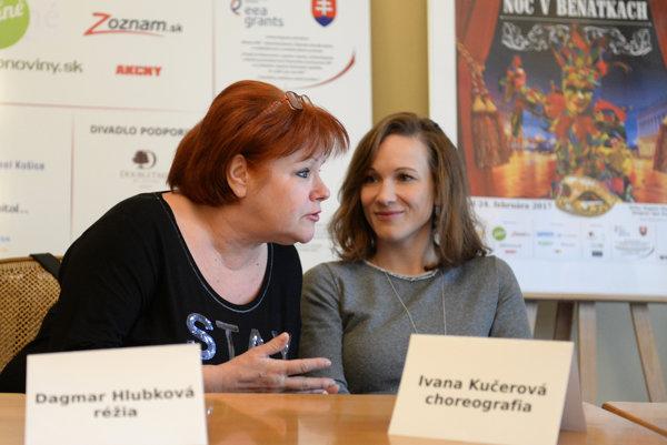 Zľava režisérka Dagmar Hlubková a choreografka Ivana Kučerová.