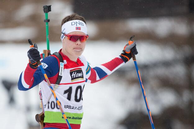 Na snímke nórsky biatlonista Dag Sander Björndalen.