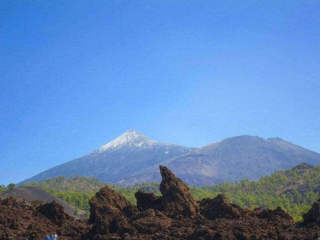Pohľad na sopku Pico del Teide.