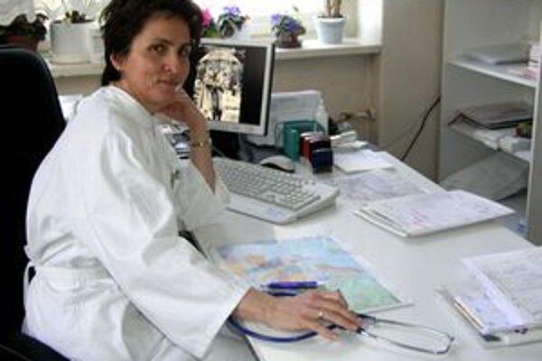 Alena Maslenová vo svojej ambulancii rieši aj problémy detí, ktoré majú zdravotné ťažkosti pre zlé stravovanie.