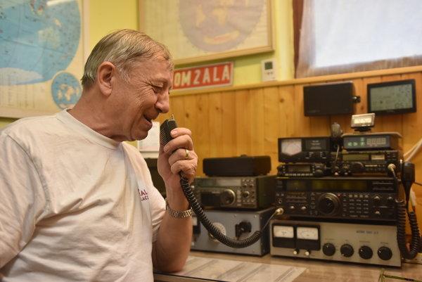 Bývalý starosta Boroviec a rádioamatér Ladislav Ander.