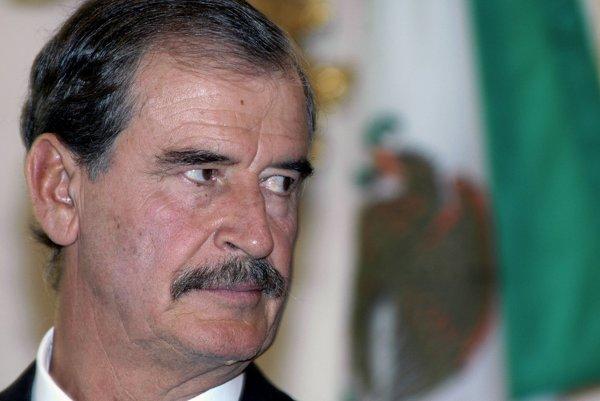 Na archívnej snímke bývalý mexický prezident Vicente Fox.