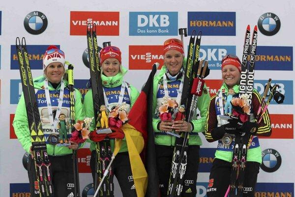 Nemky v zložení Horchlerová, Hammerschmidtová, Herrmannová a Hildebrandová.