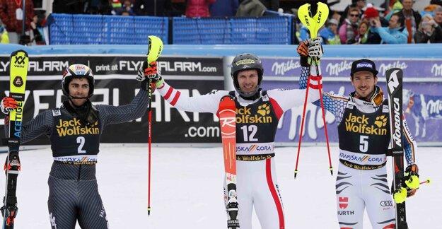V Slovinsku boli na stupňoch víťazov iní lyžiari. Hirscher nie.