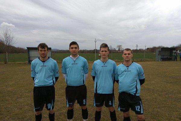 Nové tváre v Radošine: Juraj Bartošek, Mário Aberštik, Denis Vajdečka a Ivan Šimovič.