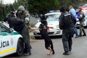 Policajti a vojaci nacvičovali zabezpečenie hranice s Maďarskom.
