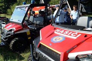 Prezentácia novej hasičskej a záchranárskej techniky.