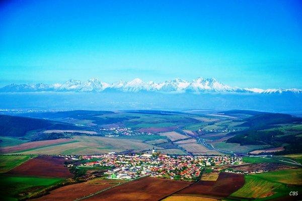 Letecký pohľad na obec Spišský Štvrtok.