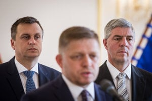Andrej Danko, Robert Fico, Béla Bugár.