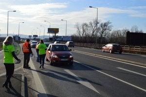 Mnohí vodiči vyjadrili aktivistom podporu.