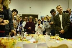 Andrea Turčanová oslavuje v Prešove.