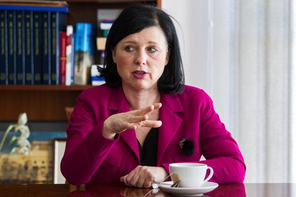 Eurokomisárka pre spravodlivosť Věra Jourová.