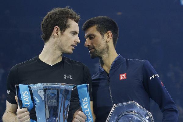 Andy Murray (vľavo) a Novak Djokovič - ilustračný záber.