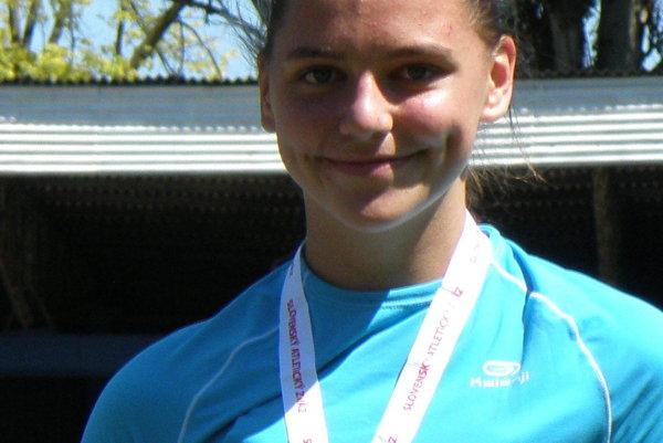 Janka Kusyová s jednou striebornou a jednou bronzovou medailou.