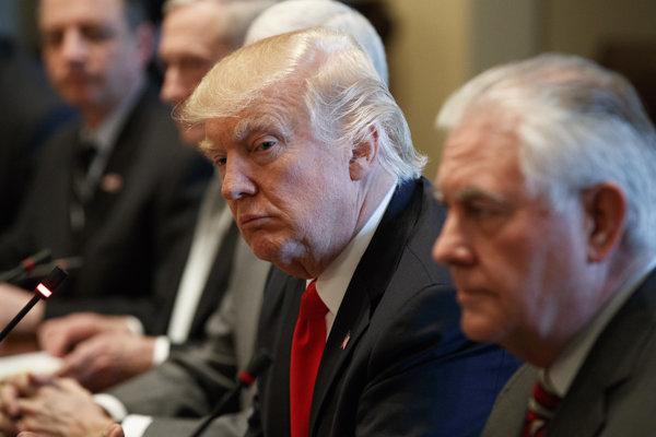 Donald Trump a Rex Tillerson.