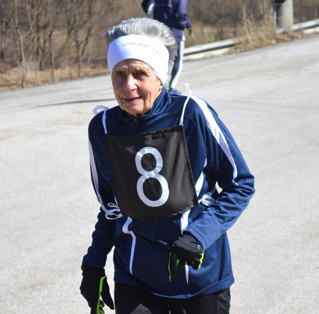 Mária Marcibálová, najstaršia účastníčka.
