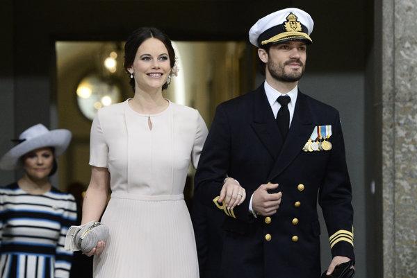 Švédska princezná Sofia a princ Carl Philip.