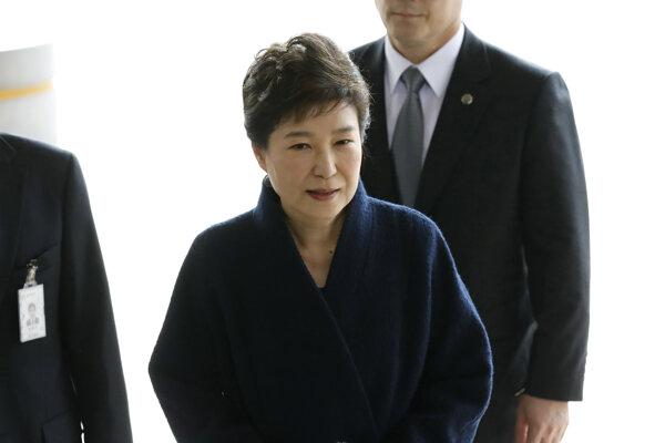 Bývalá juhokórejská prezidentka Pak Kun-hje.