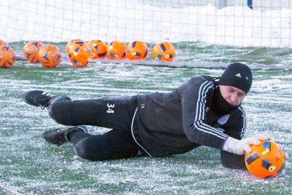 Ľ. Hajdúch na prvom tréningu zimnej prípravy.