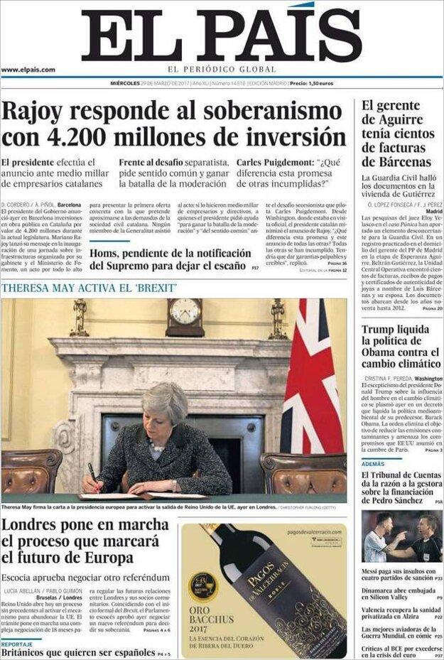 Podľa španielskeho denníka El Pais ovplyvní brexit budúcnosť Európy.