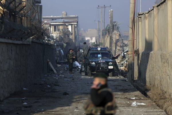 Územie zničené po útoku Talibanu (ilustračné foto).