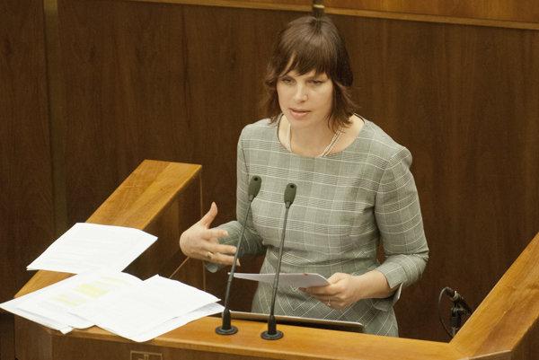 Poslankyňa OĽaNO Veronika Remišová.