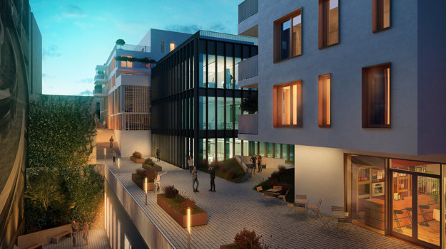 Chátrajúci dom kultúry Orbis sa nachádza na mieste, kde je na vizualizácii zobrazená stredná budova nového Orbisu.