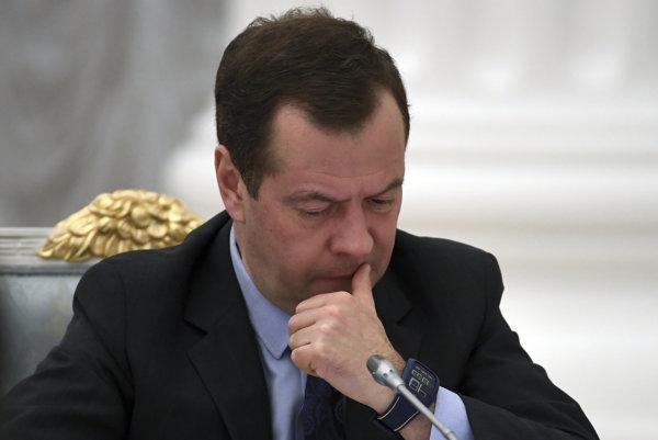 Ruský predseda vlády Dmitrij Medvedev.