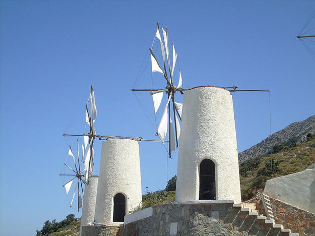 Pre Krétu sú typické aj veterné mlyny.