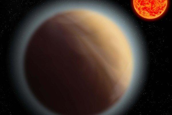 Planéta GJ 1132b so svojou materskou hviezdou červeným trpaslíkom.