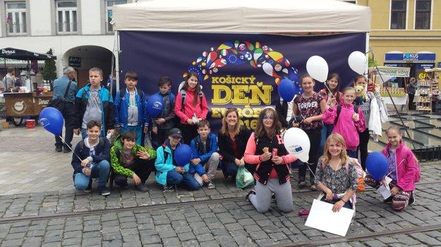 Žiaci z budimírskej školy na Košickom dni Európy