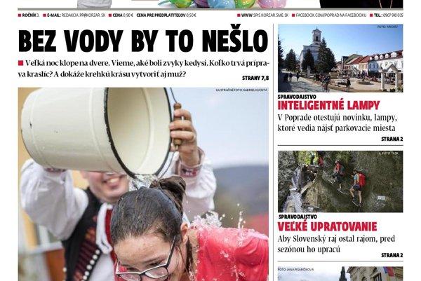 Titulka Noviny Spiša.