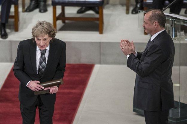 Vyznamenanie dostal aj Marián Varga. FOTO - SME GABRIEL KUCHTA
