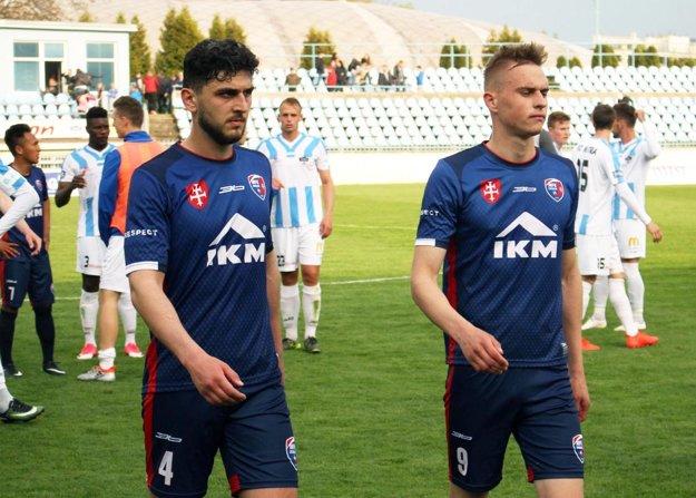 Jozef Sombat (vpravo) mal v zápase jednu dobrú šancu, ale nevyužil ju.