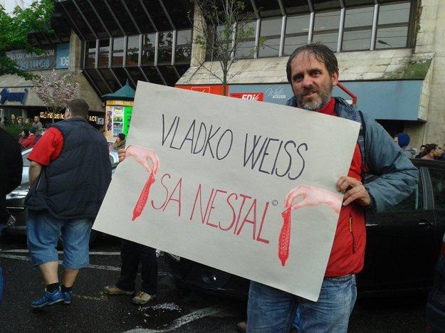 Drahomír Stano na pochode proti korupcii.