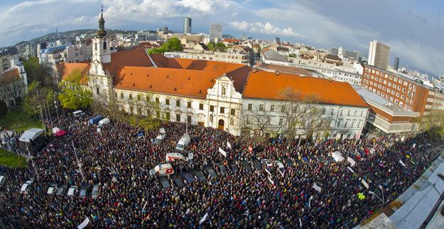 Na Veľkom protikorupčnom pochode.