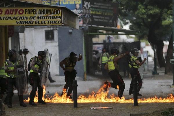 Protesty vo Venezuele.