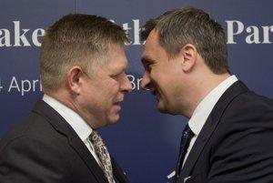 Robert Fico a Andrej Danko na Konferencii predsedov parlamentov členských štátov Európskej únie na Bratislavskom hrade.