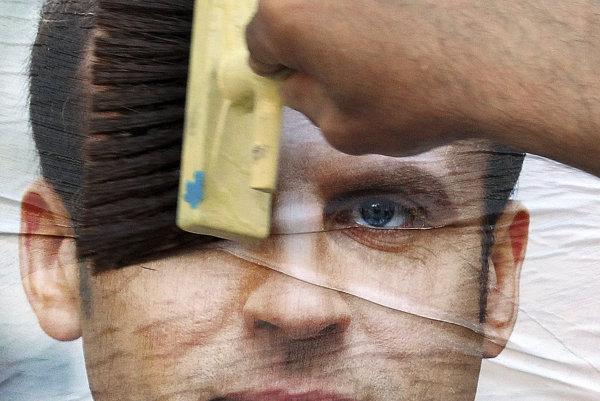 Prezidentský kandidát Emmanuel Macron.