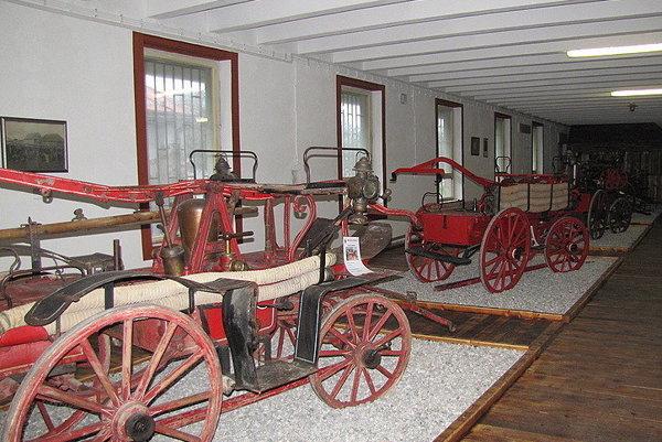 Časť expozície Hasičského múzea v martinskej Priekope.