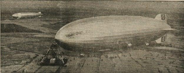 Nemecká vzducholoď Hindenburg.