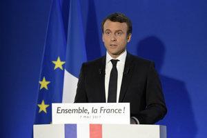 Víťaz prezidentských volieb vo Francúzsku Emmanuel Macron.
