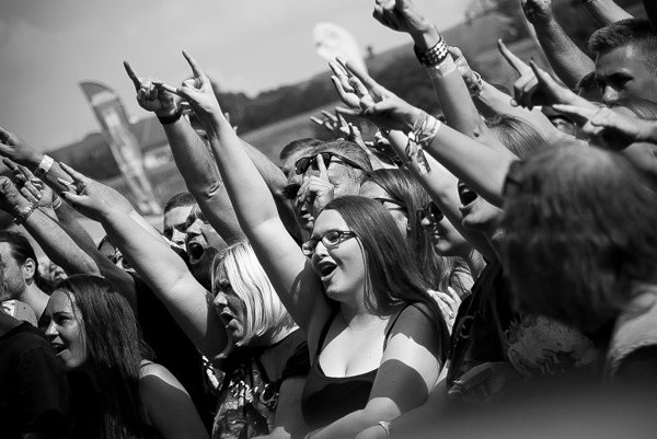 Fanúšikovia z rôznych kútov Slovenska i Európy si vlani takto užívali svoje obľúbené kapely.