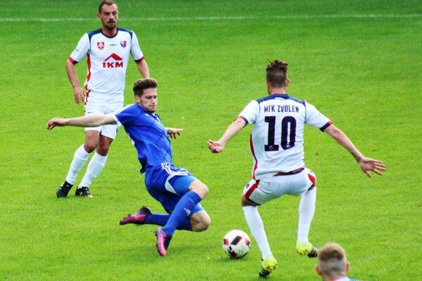 Momentka z derby MFK Zvolen - FK Pohronie