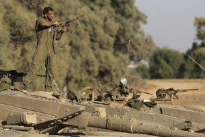 Izraelská armáda na hraniciach.