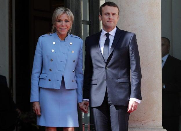 Emmanuel Macron a Brigitte Trogneux